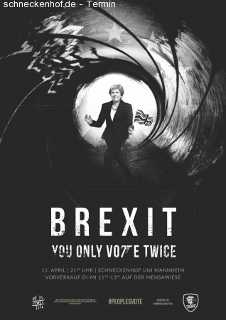 Brexit - You only vote twice Werbeplakat