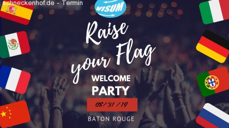 VISUM Welcome Party - Raise Your Flag! Werbeplakat