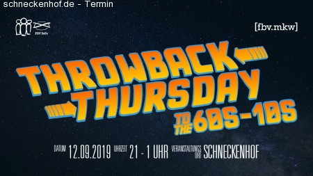 Throwback Thursday Werbeplakat