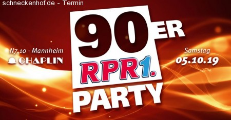 RPR1 90er Party Werbeplakat